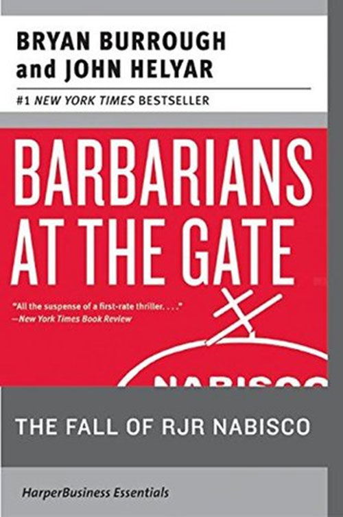 Best Entrepreneur Startup Books - Barbarians at the Gate Cover