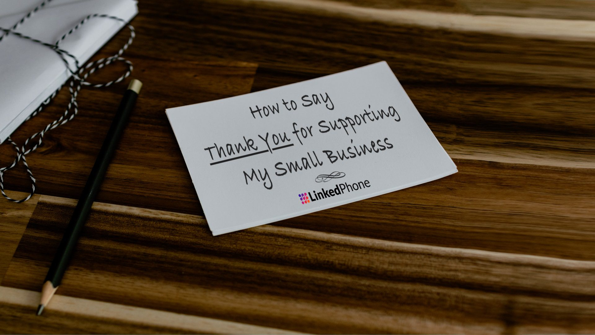 Handwritten Note on Desk with the words