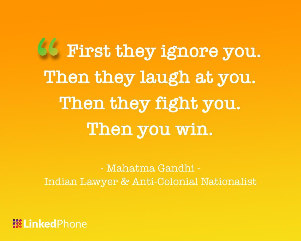 Mahatma Gandhi - Motivational Inspirational Quotes and Sayings 2