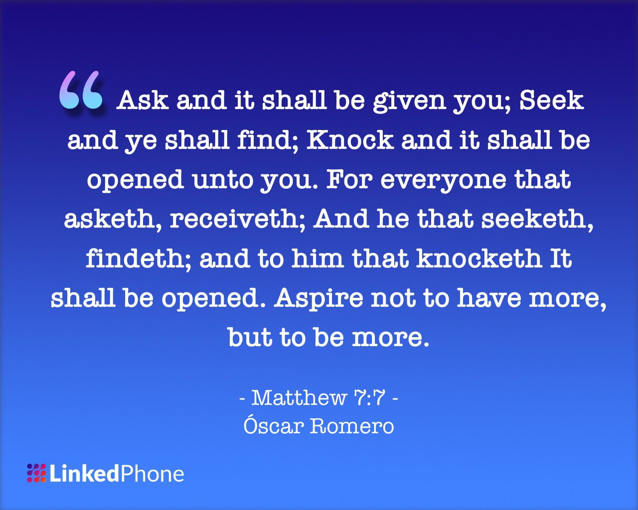 Matthew 7 Oscar Romero - Motivational Inspirational Quotes and Sayings