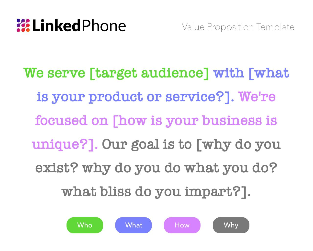 Value Proposition Template Example