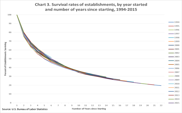 Business Survival Rate Over Time