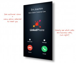 LinkedPhone - See which calls are business calls on your cell phone