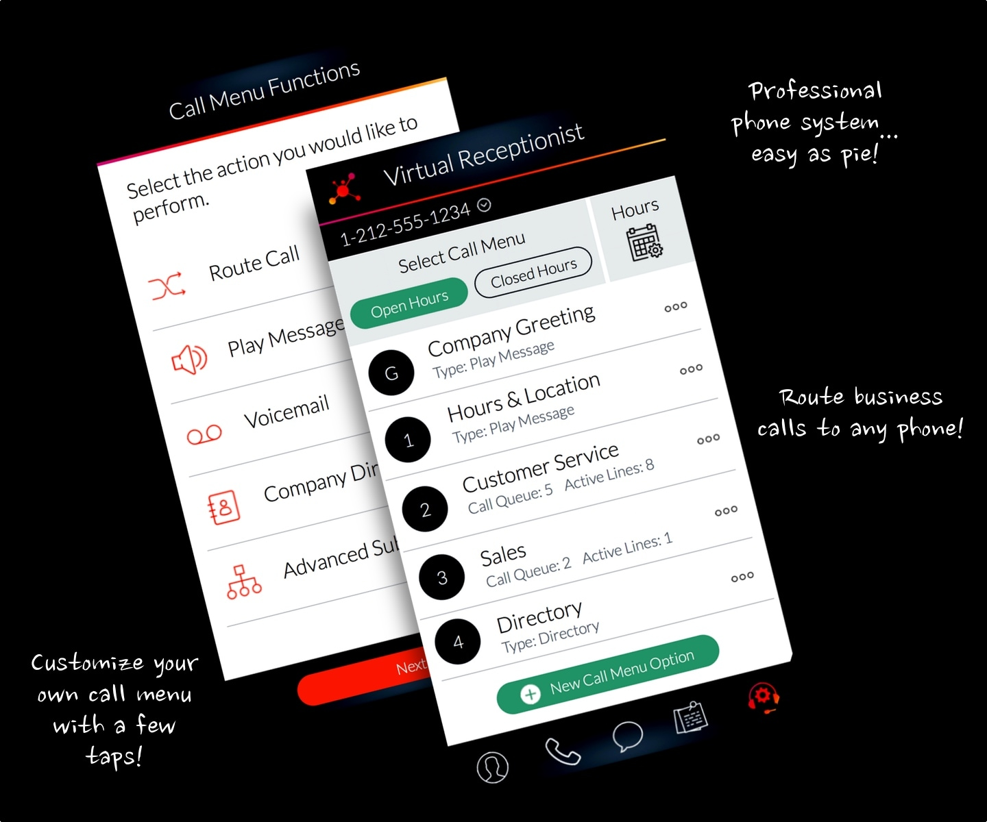 LinkedPhone App - Virtual Receptionist for your Small Business