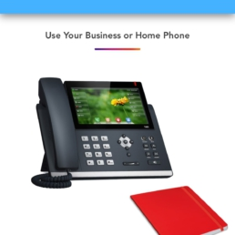 Office VoIP IP Phone or Landline connected to LinkedPhone Virtual Phone System