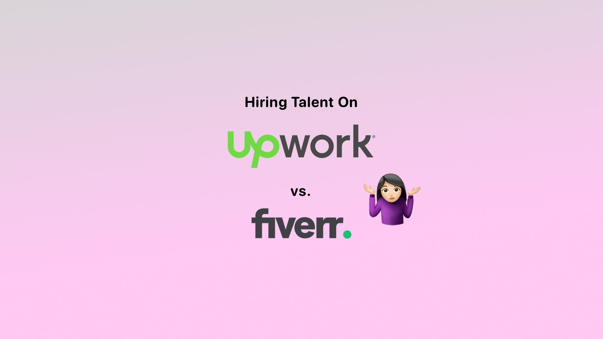 Upwork vs Fiverr - What's The Difference